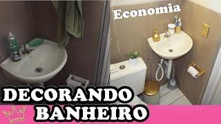 Decorar banheiro gastando pouco | Nayza Rodrigues