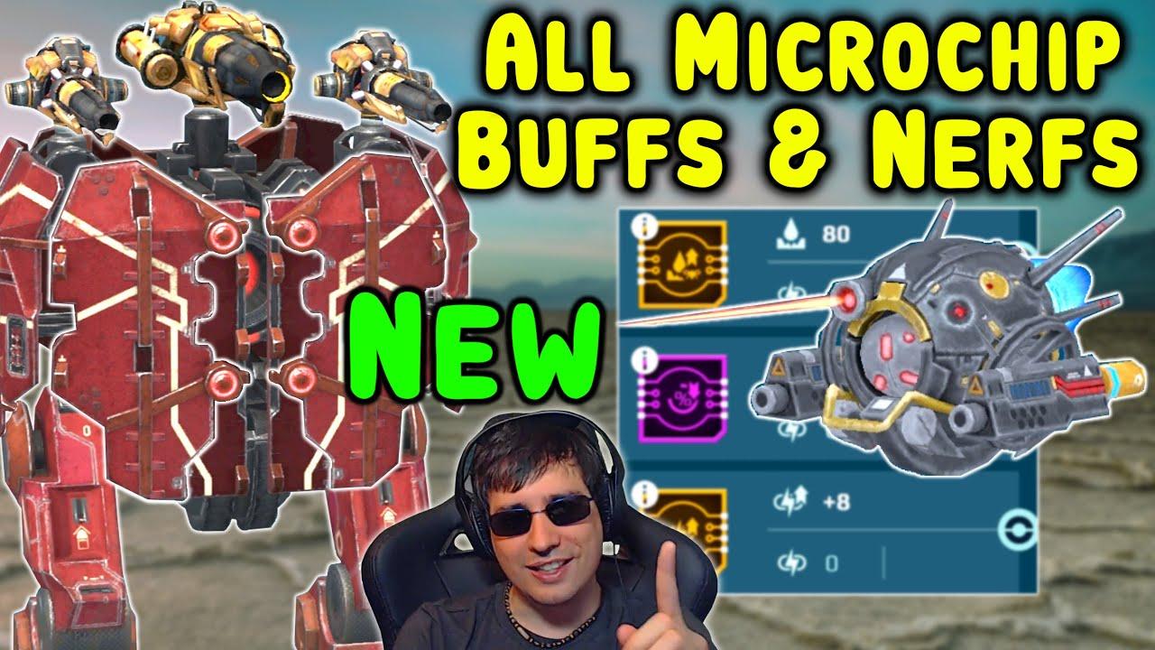 ALL NEW BUFFS & NERFS MICROCHIP Test Server War Robots Gameplay WR