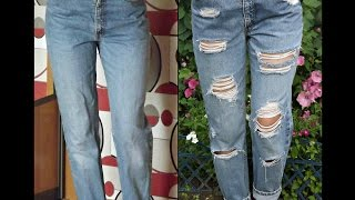 Как сделать рваные джинсы!?How to make ripped jeans?(https://vk.com/idyuliana17., 2016-07-26T16:38:35.000Z)