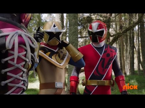 Power Rangers Ninja Steel - Power Rangers vs Shoespike Round 1 | Episode 13 Ace and the Race