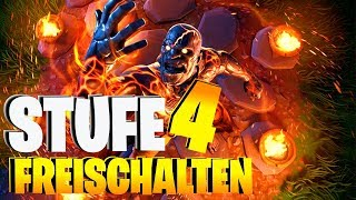 STUFE 4 SCHNEEFALL SKIN - Captured Fire King unlock Fortnite