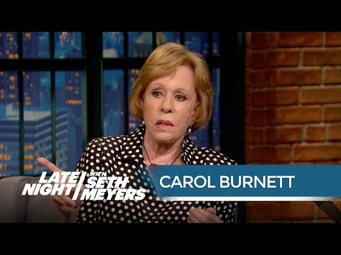 Carol Burnett's Annie OnSet Mishap  Late Night with Seth Meyers