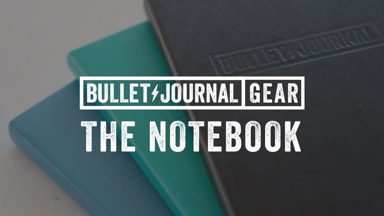 the bullet journal notebook youtube. Black Bedroom Furniture Sets. Home Design Ideas
