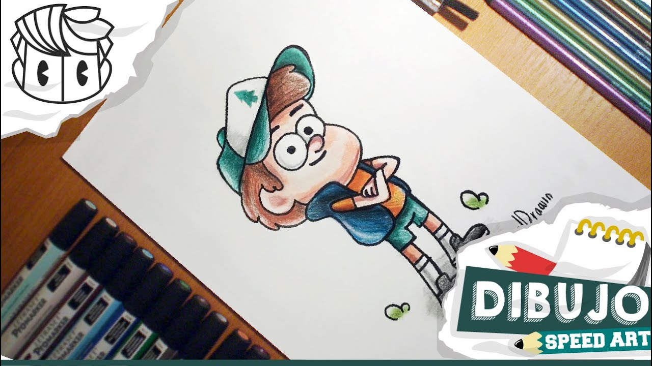 dibujo speed drawing dipper gravity falls colors final how to draw como dibujar youtube. Black Bedroom Furniture Sets. Home Design Ideas
