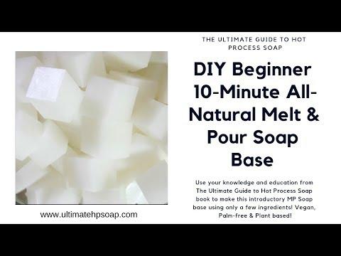 DIY All-Natural Melt & Pour Soap Base (10-Minute Vegan & Palm-free)