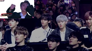 181214 Wanna One + Seventeen reaction to O!RUL8,2? LY Remix @ MAMA