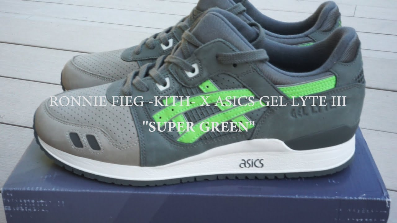 new products 8292b 46947 Review #10 Ronnie Fieg -KITH- X Asics Gel Lyte III ''Super Green'' Por  Khordē + English Subtitles
