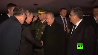 بعد زيارته للقاهرة.. بوتين يصل تركيا .. فيديو