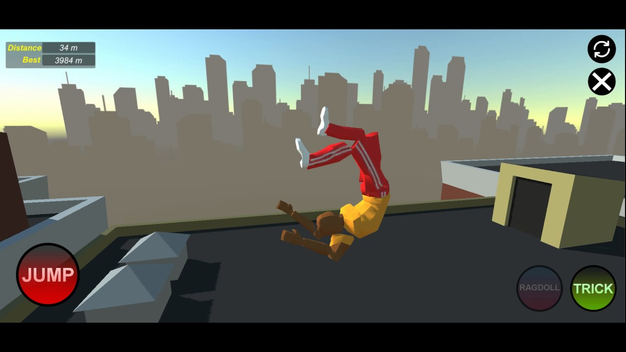 Just Flip Android Update New Character Ragdoll Mode Backflip Game Youtube