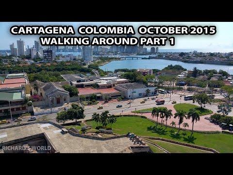 Walking Around Cartagena Colombia - Inside the old city Oct 2015 - Sony HX90V VideoV