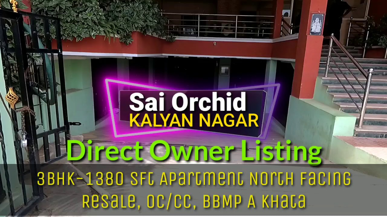 Kalyan Nagar ORR 3BHK Apartment for 60Lakhs Direct Owner Sale
