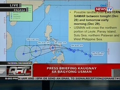 QRT: Press briefing kaugnay sa bagyong Usman