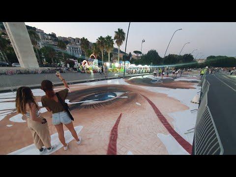 "Literally ""Walk on StreetArt!"" along Naples Waterfront - Jorit and Local Artists"