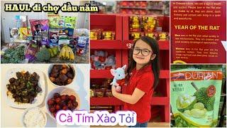 HAUL Đi Chợ Đầu Năm ♥ Nấu mấy món đen thui mà ăn hết sạch 🍆   mattalehang