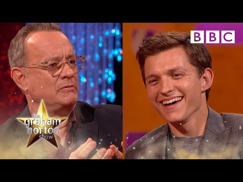 Tom Hanks tests Tom Holland&39;s acting  The Graham Norton Show - BBC