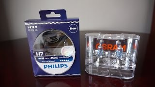 Philips Racing Vision vs OSRAM Cool Blue Intense