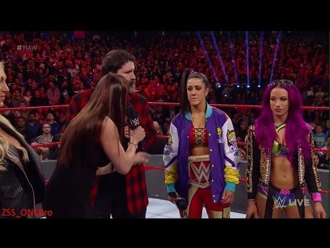 Bayley Sasha Banks Charlotte Stephanie segment WWERAW