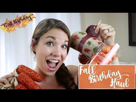 FIRST BIRTHDAY DECORATION HAUL!!   Fall Birthday Ideas!!   Days of May