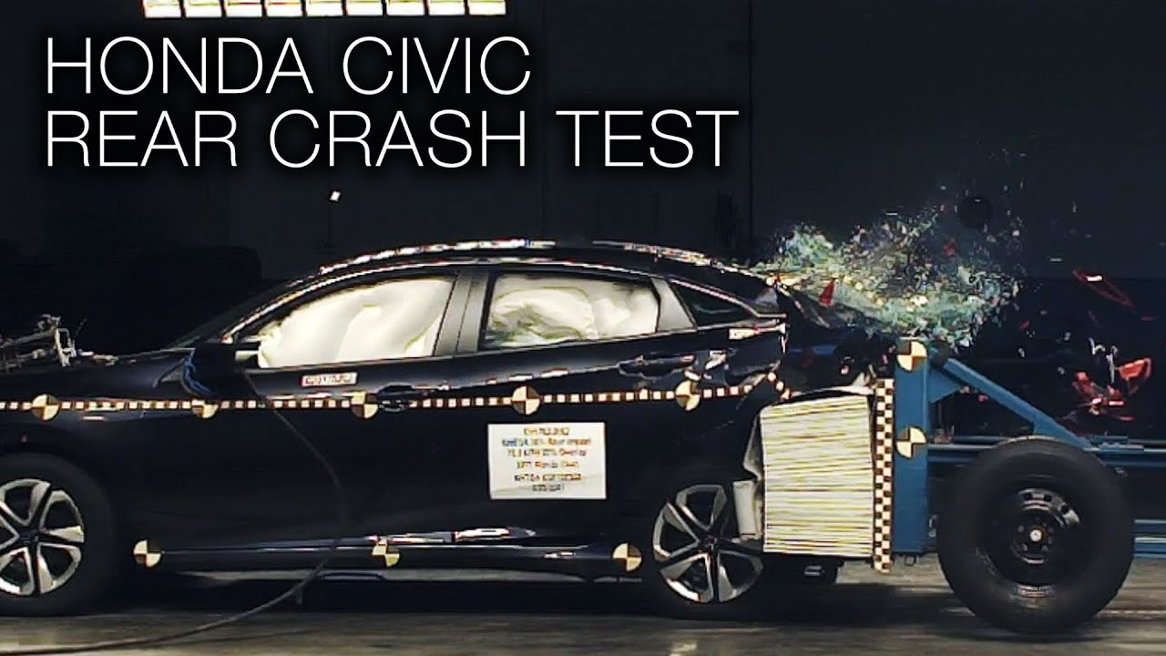 honda civic  rear crash test youtube