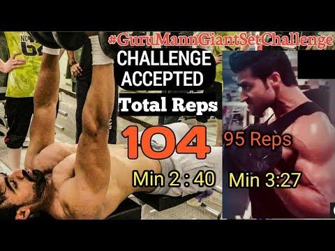 CHALLENGE ACCEPTED GURUMANN : GIANT SET | FINAL WEEK CHALLENGE BEAT rohit khatri