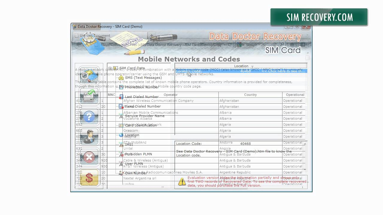 How to restore sim card 47