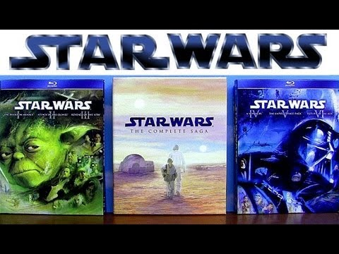 Star Wars blu ray Trilogy Prequel and Complete Saga uboxing review