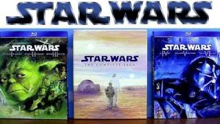 Star Wars blu ray Trilogy Prequel and Complete Saga uboxing review comparison