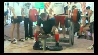 bench press 300,5 kg @ 82.5 kg Sergey Koshkin