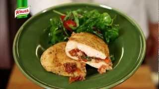 Przepis- Pierś kurczaka z mozzarellą i suszonymi pomidorami (przepisy kulinarne Przepisy.pl)