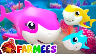 Baby Shark | Nursery Rhymes and Baby Songs Remix | Farmees Kids Songs