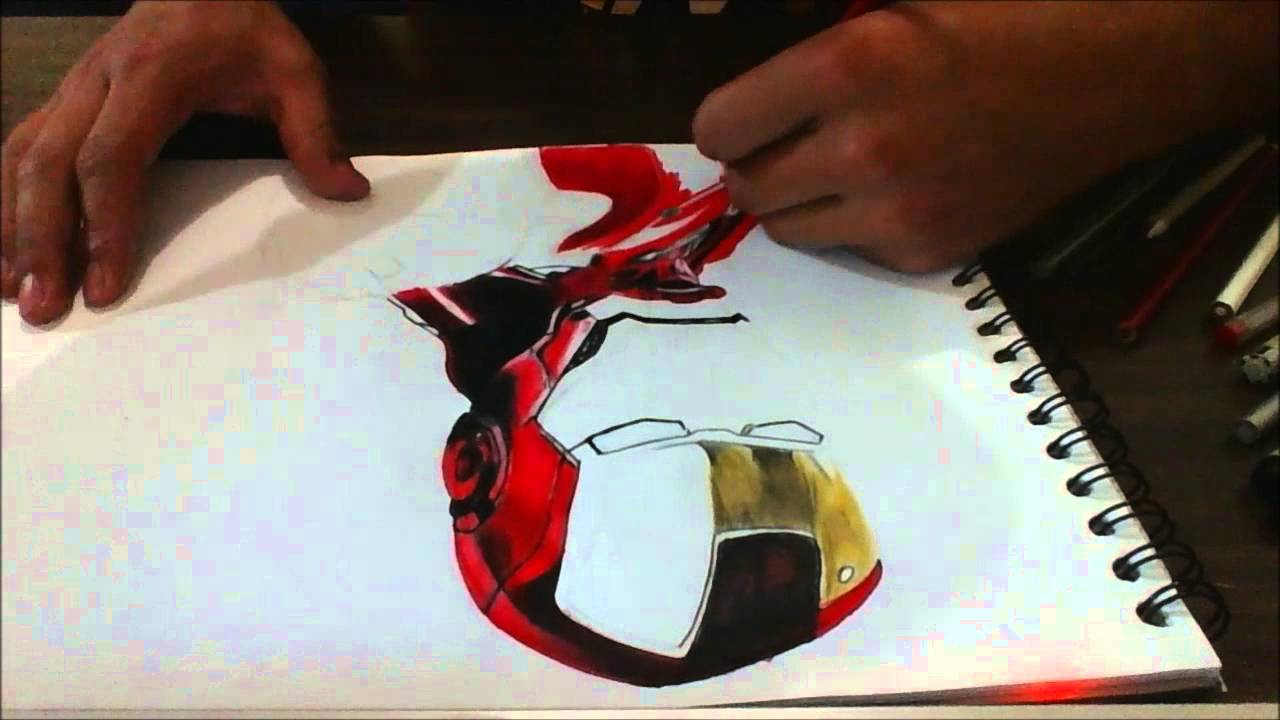 dibujo a color de iron man youtube