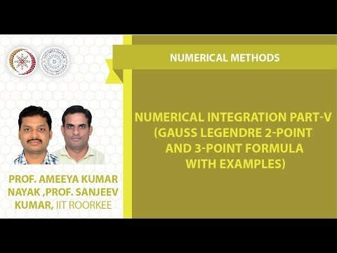 Numerical Integration part-V (Gauss Legendre 2-point and 3-point formula with examples)