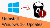 Windows 10 - How to Uninstall or Remove Updates - YouTube