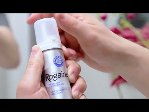 How To Exactly Apply Rogaine/Minoxidil For Proper Hair Growth (Foam) | How  I Do it