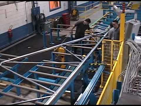 AUTOMATED Cold Formed Light Gauge Steel Truss Fabrication Line in direct CAD design control