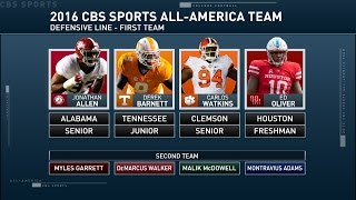 Our 'inside college football' analysts discuss which defensive linemen should be named on the all-american team.