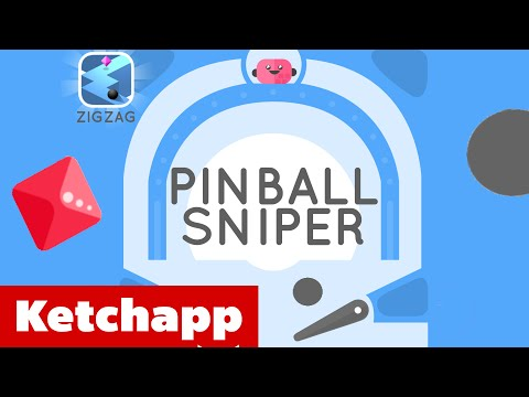 PINBALL SNIPER by KetchApp Review | NEW Game by ZigZag Developer - iOS Gameplay (Android, iPhone)