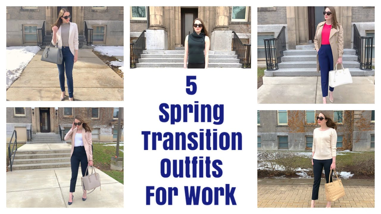 5 Spring Transition Outfit Ideas For Work   Office Fashion Inspo