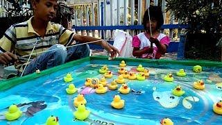 Lucky Duck For Children Fishing Videos For Children Fishing For Kids | Potong Bebek Angsa