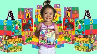 alphabet nesting and stacking blocks family fun learn the alphabet and colors