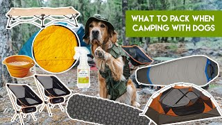 What To Pack Wнen Camping With Dogs