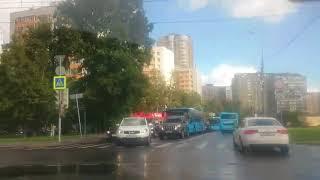 Пяловский маршрут Разворот на пересечении Бускудниковского бул и Дмитровского шоссе
