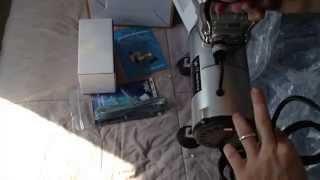 unbox nail art airbrush kit set-air compressor-paint- 20pk stencil deisgn dual action