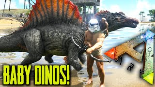 Ark Survival Evolved - BABY DINOS - Hatching Eggs Mod Gameplay 1080p HD