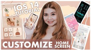 IOS14 IPHONE HOMESCREEN CUSTOMIZATION |Custom Widget + Shortcut|Step by Step Tutorial| Tagalog