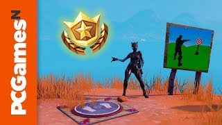 Fortnite Shooting Gallery locations: Wailing Woods, Retail Row, and Paradise Palms | Week 10