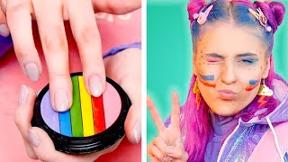 FUN RAINBOW SCHOOL SUPPLIES! Clever DIY Ideas | School Life Hacks by Crafty Panda