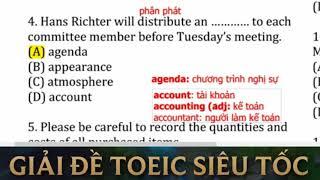 Giải chi tiết đề thi TOEIC Tháng 10 năm 2017 tuần 2 | TOEIC Part 5 mẹo hay siêu dễ