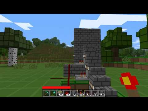 Minecraft Double Piston Stairs