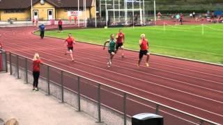 Viktor Elvung Nilsson 100 m försök Rosenbomspelen 2014